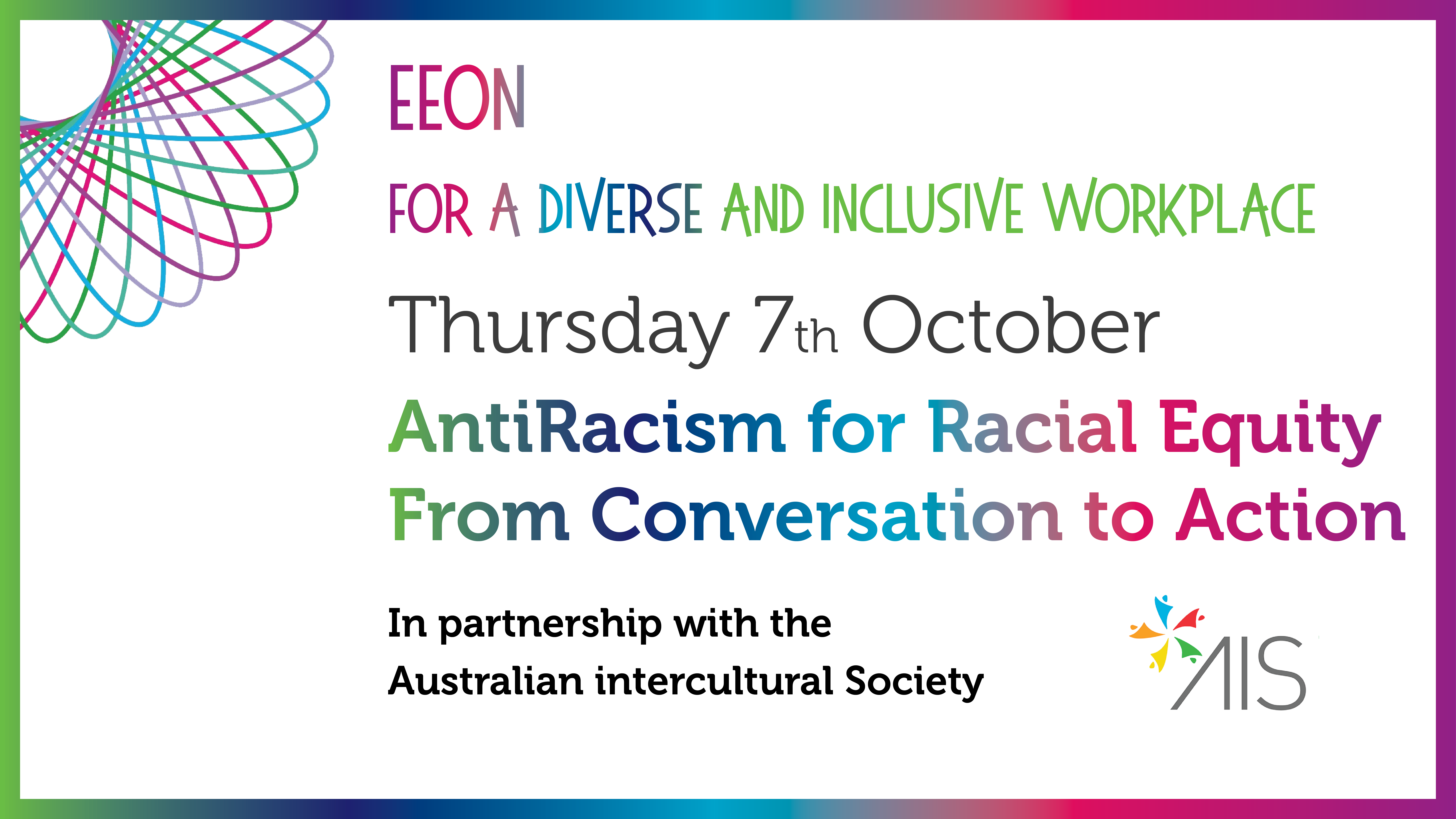 EEON Event Banner: Anti Racism for Racial Equity