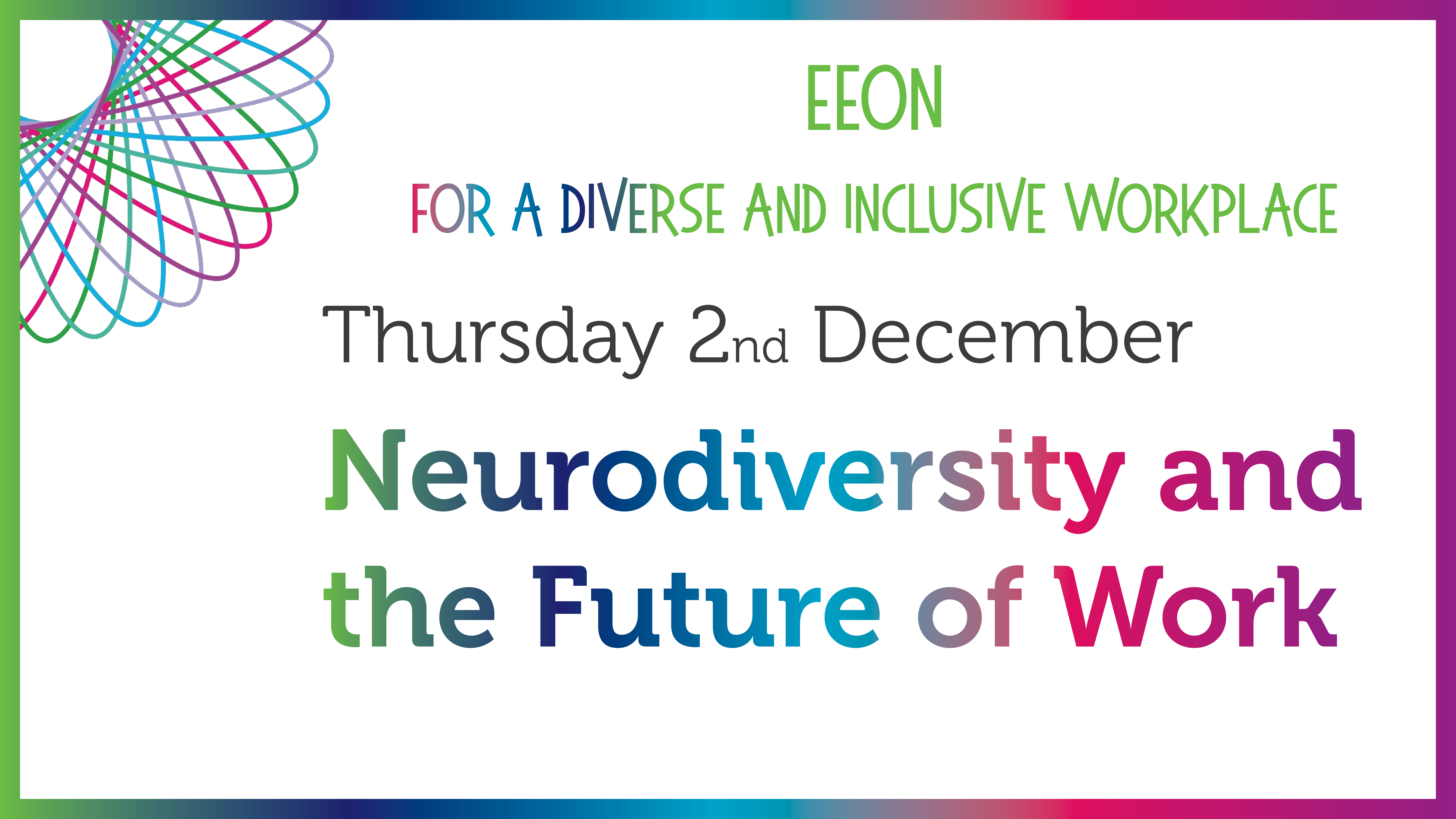 EEOn Event Banner, Neurodiversity and the future of work