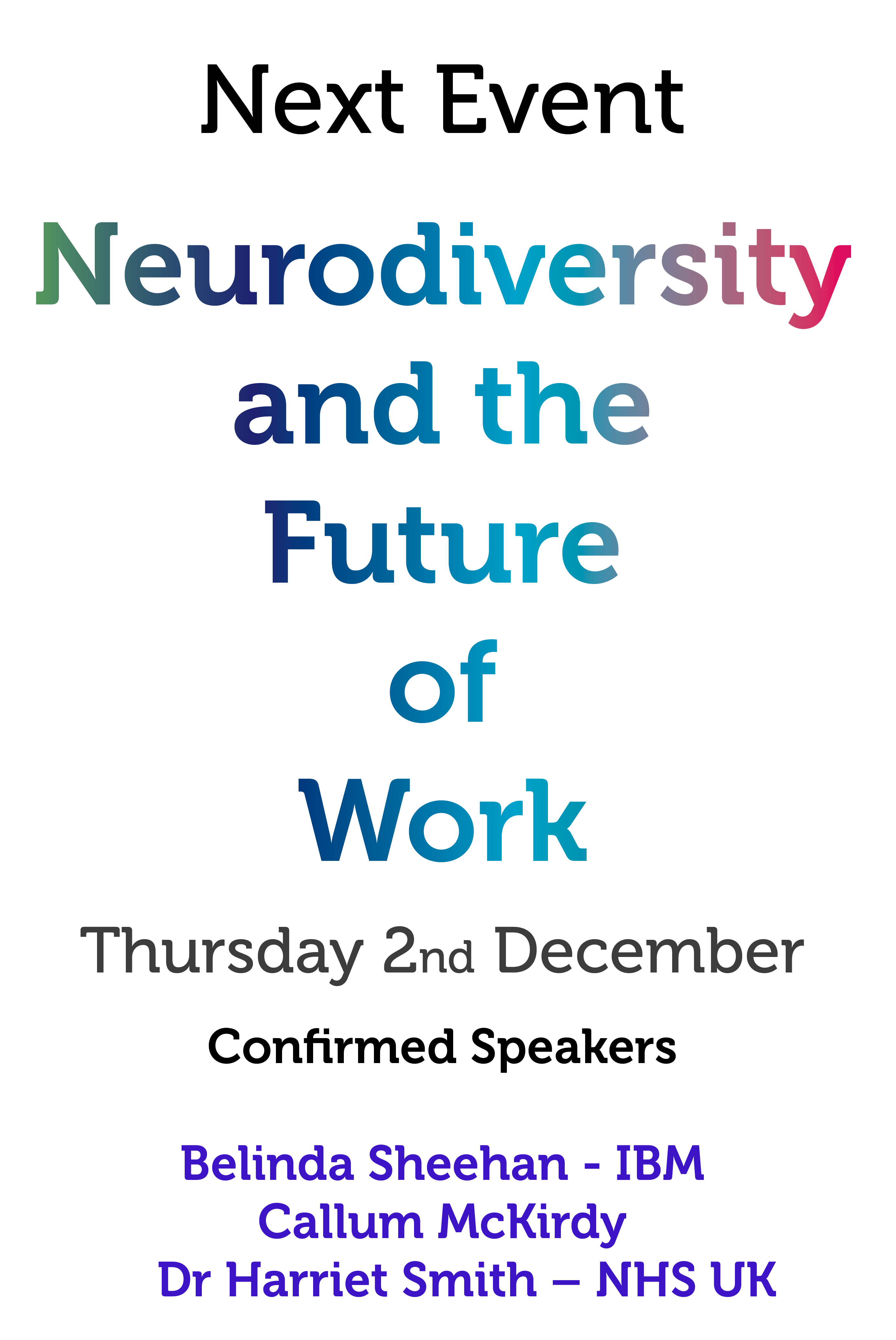 Banner: Neurodiversity and the Future of Work